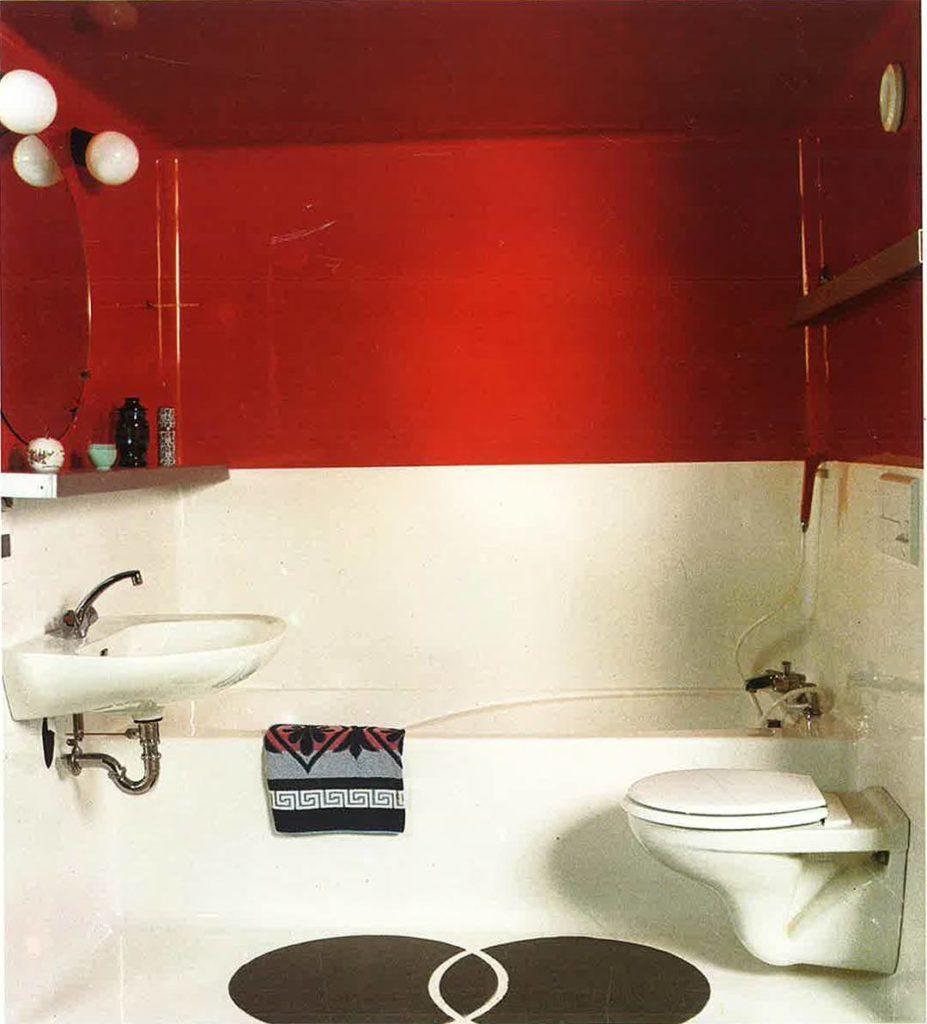 "Charlotte Perriand - ""Savoie"" bathroom unit - Les Arcs 19"